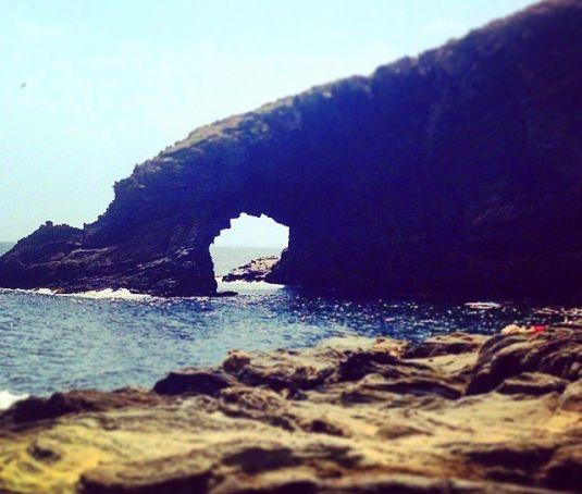 arco dell'elefante, pezzo di roccia che assomiglia a una proboscide sull'isola di Pantelleria
