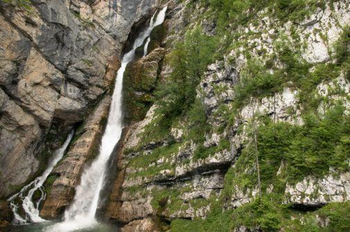 Cascata in Slovenia: l'acqua è una degli elementi dominanti