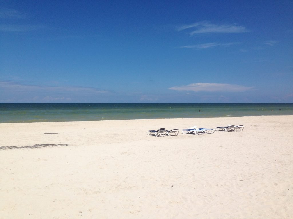 la sabbia e il mare di Progreso