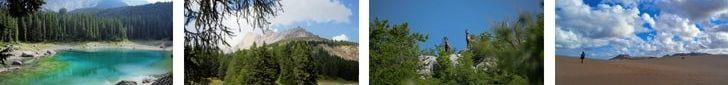 foto di varie vacanze in montagna e al mare