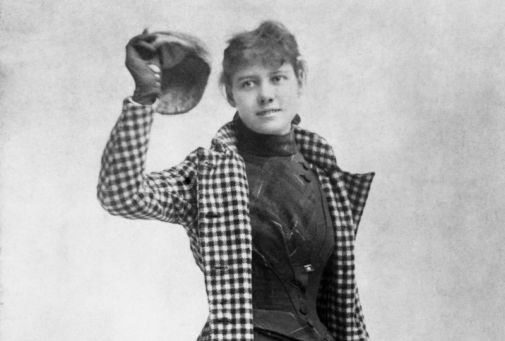 foto dal web di Nellie -bly la giornalista americana in bianco e nero