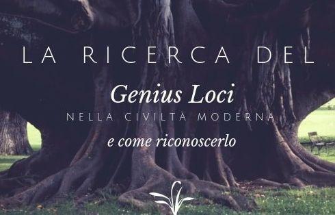 immagine di albero e scritta genius loci