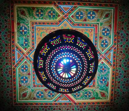 lampadario tipica lavorazione marocchina (toccata e fuga a Marrakesh)