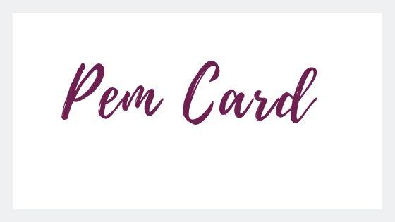 cartolina digitale con pem card, titolo pem card