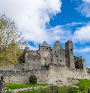 veduta d'insieme sulla città medievale di carcassonne