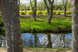 particolare del parco sul fiume Aude