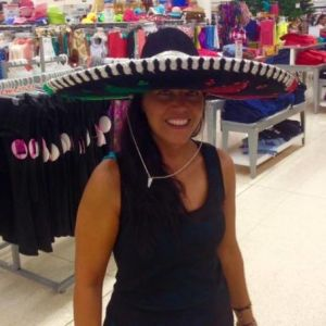 Io con il sombrero a Playa del Carmen