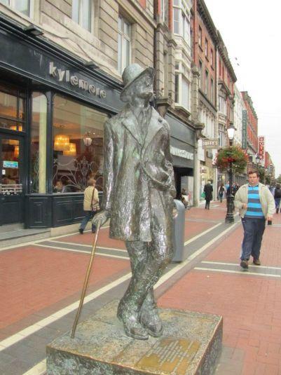 Statua dello scrittore James Joyce