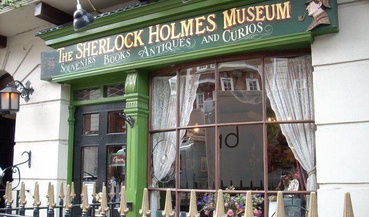Foto dell'entrata del museo di Sherlock Holmes