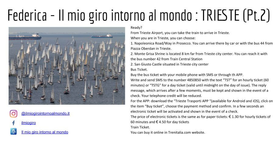 Seconda diapositiva consigli su Trieste