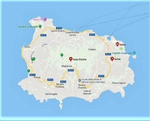 cartina di ischia