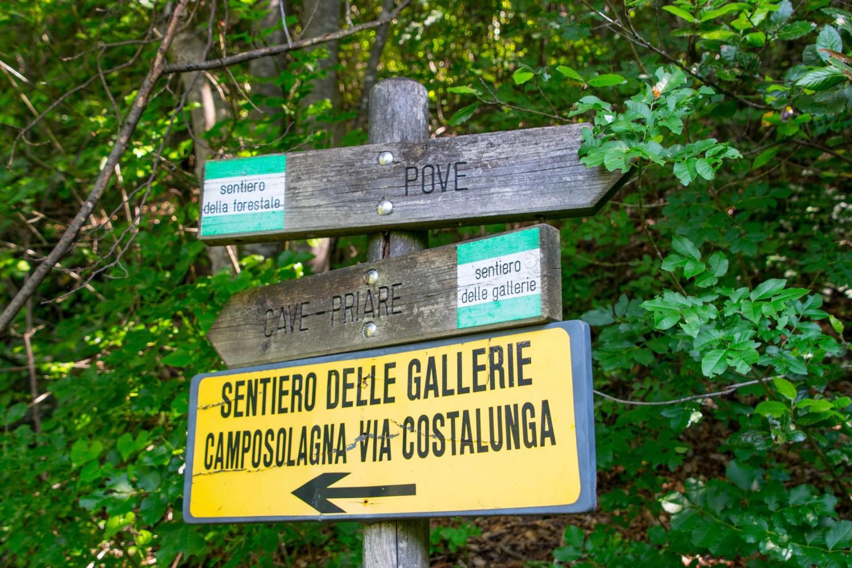 Itinerario cave verso monumento degli scalpellini