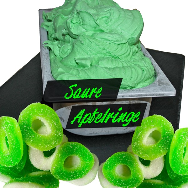 Saure-Apfelringe - Eis