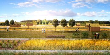 1° premio: progetto n.3 Capogruppo arch. Massimo Peota di Rovereto (TN)