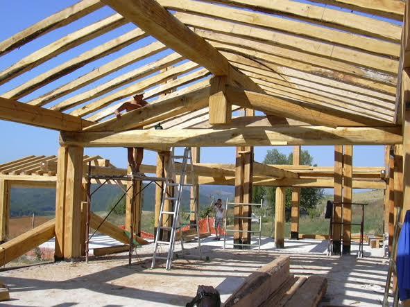 case di paglia - struttura portante