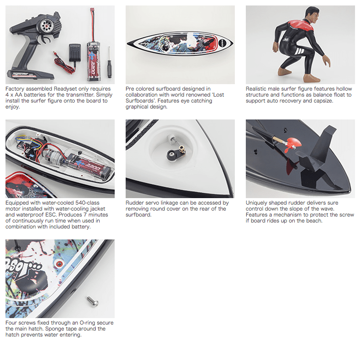kyosho surfer KIT , EL surfista radio control