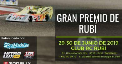 3ª Prueba del Campeonato de Cataluña de Pista Gas – Gran Premio de Rubí – Junio 2019