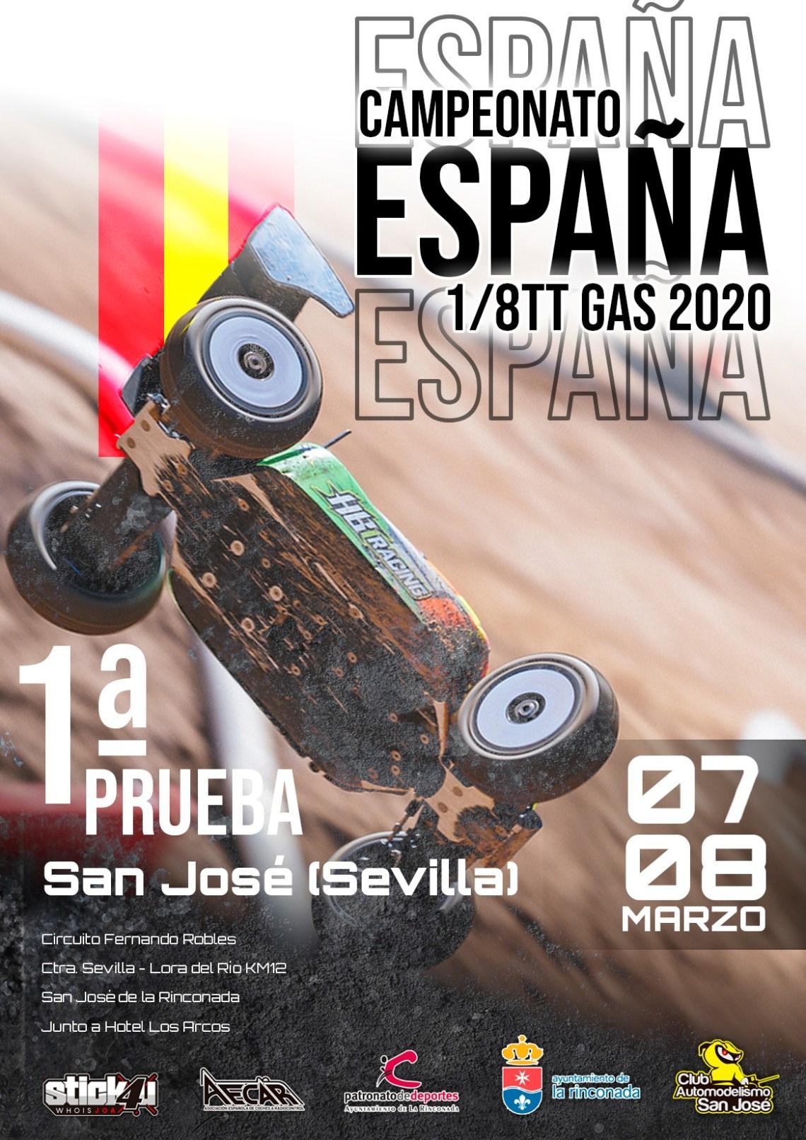 Campeonato de España 1/8 TT Gas 2020 Sevilla