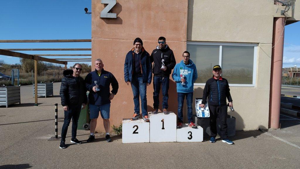 POdio Campeonato Aragón 18 Pista Gas