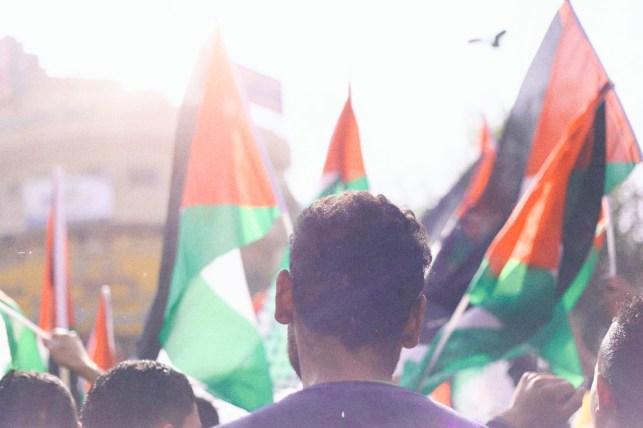 Manifestación en Ramallah