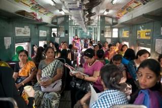 Vagón de mujeres en Bombai