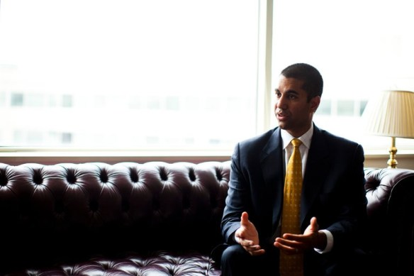 Ajit Pai, the new chairman of the Federal Communications Commission, has taken a first swipe at net neutrality. Credit Christopher Gregory/The New York Times