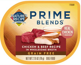 Nature's Recipe Prime Blends Chicken and Beef Recipe Grain-Free Wet Dog Food