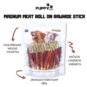 Magnum Meat Roll on Rawhide stick