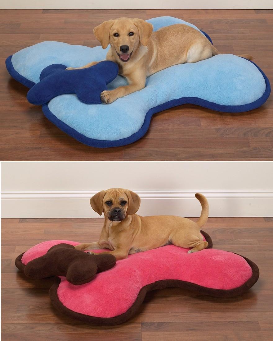 Bone shaped dog beds