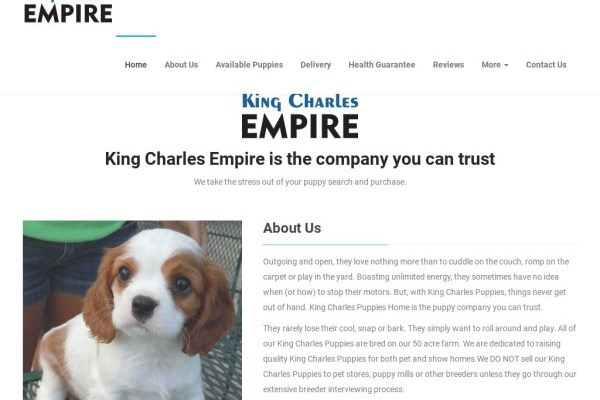 Kingcharlesempire.com - Cavalier King Charles Spaniel Puppy Scam Review
