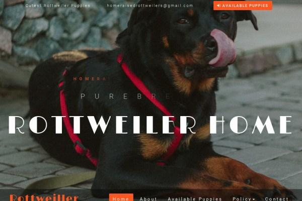 Homeraisedrottweilers.com - Rottweiler Puppy Scam Review