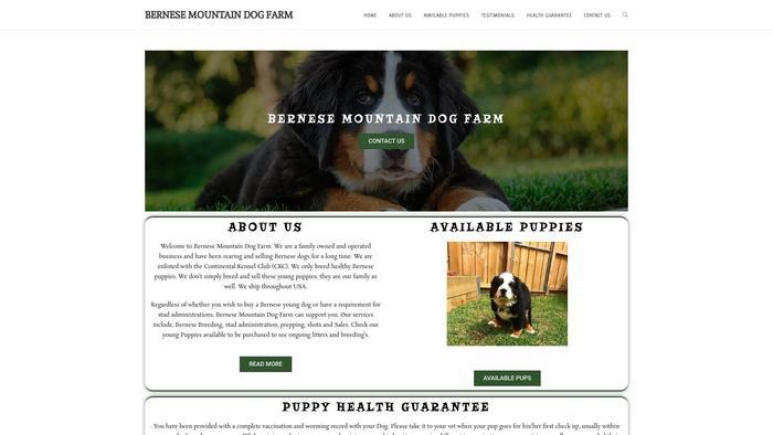 Bernesemountaindogfarm.com - Bernese Mountain Dog Puppy Scam Review