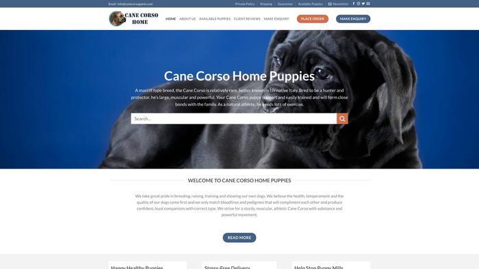 Canecorsohome.com - Cane Corso Puppy Scam Review