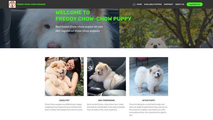 Freddychowchowparadise.com - Chowchow Puppy Scam Review