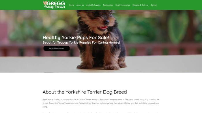 Greggteacupyorkies.com - Yorkshire Terrier Puppy Scam Review