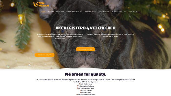 Benwilliampet.com - French Bulldog Puppy Scam Review