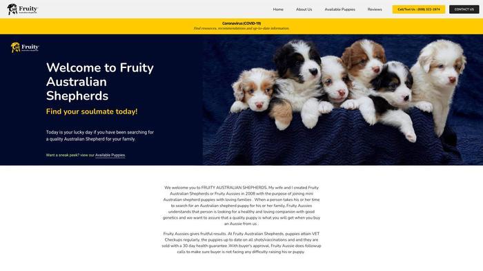 Fruityaussieshome.com - Australian Shepherd Puppy Scam Review