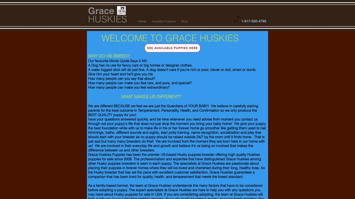 Gracehuskies.site - Husky Puppy Scam Review