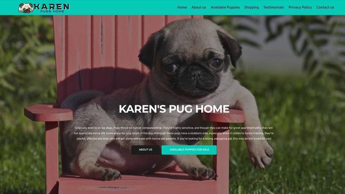 Karenspugshome.com - Pug Puppy Scam Review