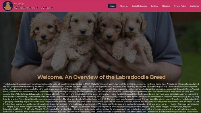 Cutelabradoodlefamily.com - Labradoodle Puppy Scam Review