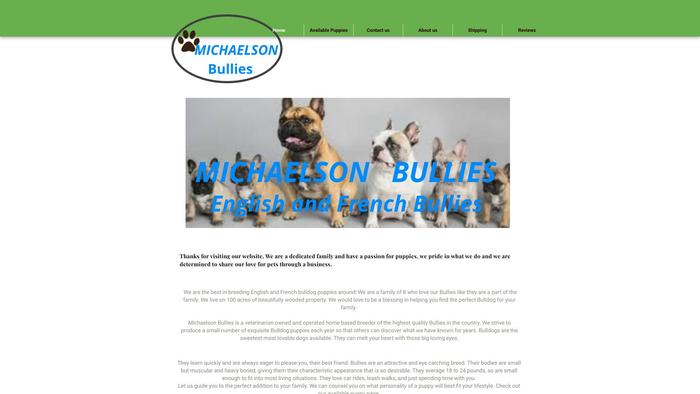 Michaelsonbullies.com - French Bulldog Puppy Scam Review