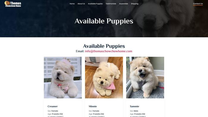 Thomaschowchowhome.com - Chowchow Puppy Scam Review