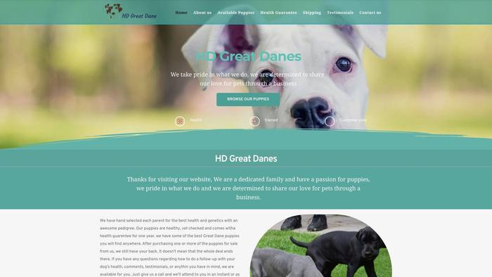 Hdgreatdanes.com - Great Dane Puppy Scam Review