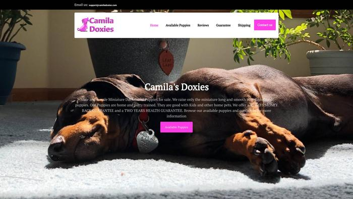 Camiladoxies.com - Dachshund Puppy Scam Review