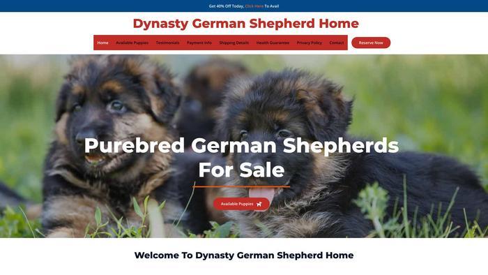 Dynastygermanshepherdhome.com - Germanshepherd Puppy Scam Review