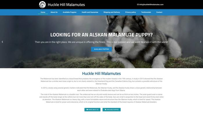 Hucklehillmalamutes.com - Malamute Puppy Scam Review