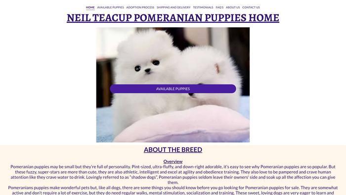 Neilteacuppomeranianpuppies.com - Pomeranian Puppy Scam Review