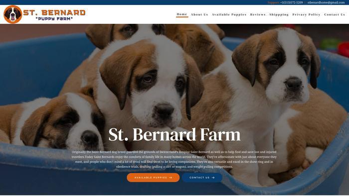 Stbernardfarm.com - Saint Bernard Puppy Scam Review