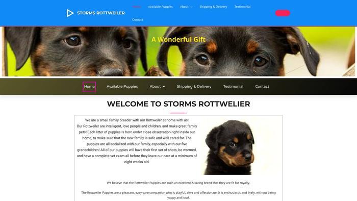 Stormsrottweiler.com - Rottweiler Puppy Scam Review