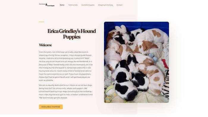 Ericagrindleyhoundpuppies.com - Bernedoodle Puppy Scam Review